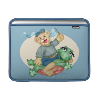 "BEAR TURTLE CARTOON Macbook Air H 13 "" MacBook Sleeve"