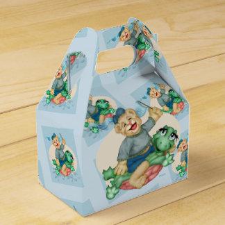 BEAR TURTLE  FAVOR BOX GABLE WEDDING FAVOUR BOXES