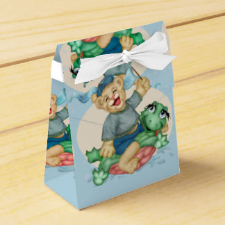 BEAR TURTLE  FAVOR BOX TENT