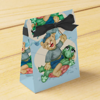 BEAR TURTLE  FAVOR BOX TENT 2 FAVOUR BOXES