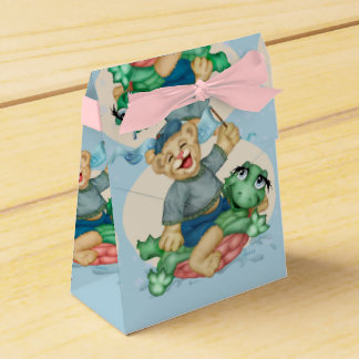 BEAR TURTLE  FAVOR BOX TENT PARTY FAVOUR BOXES