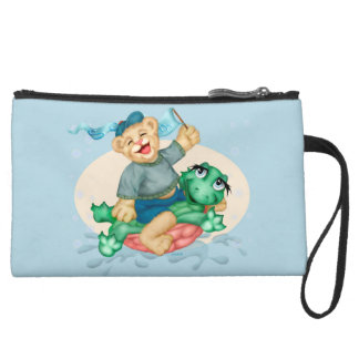 BEAR TURTLE Sueded Mini Clutch bag