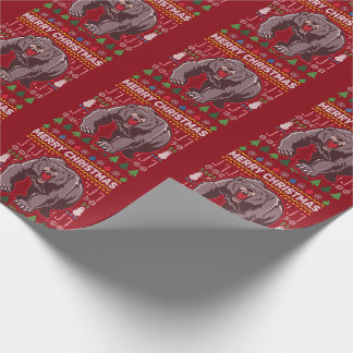 Bear Ugly Christmas Sweater Wildlife Series Wrapping Paper