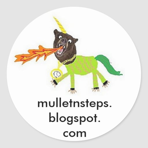 Bear Unicorn Sticker mulletnsteps