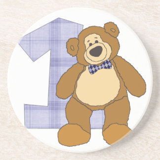 Bear with 1 Coaster for 1st Birthday