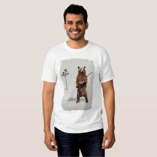 Bear with a shotgun t-shirts