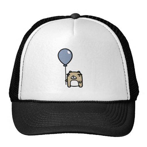 Bear With Blue Balloon Mesh Hats