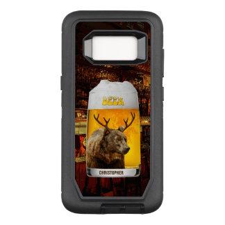 Bear With Deer Horns Beer Mug Pub Owner Cool Funny OtterBox Defender Samsung Galaxy S8 Case