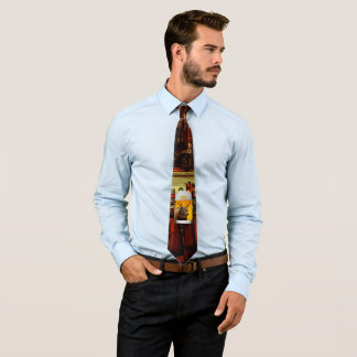 Bear With Deer Horns Beer Mug Pub Owner Cool Funny Tie