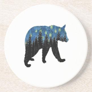 bear with fireflies coaster