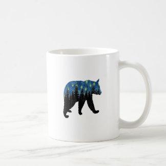 bear with fireflies coffee mug