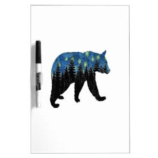 bear with fireflies dry erase board