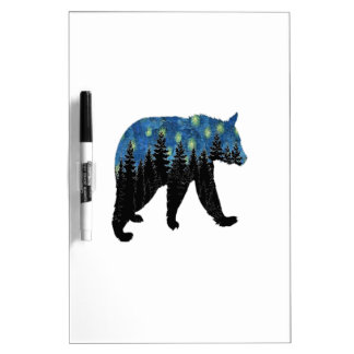 bear with fireflies dry erase white board