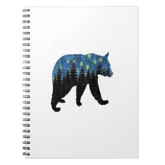 bear with fireflies notebooks