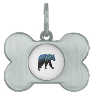 bear with fireflies pet tag
