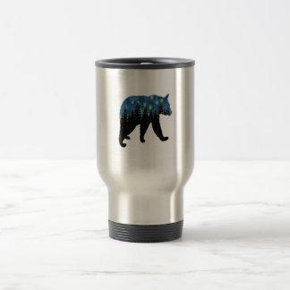 bear with fireflies travel mug