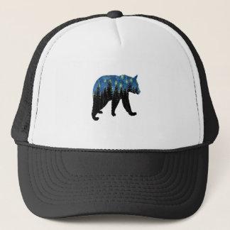 bear with fireflies trucker hat