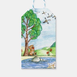 Bear with Flower Gift Tag