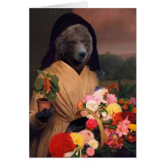 Bear With Flowers - Anthropomorphic Composite Card