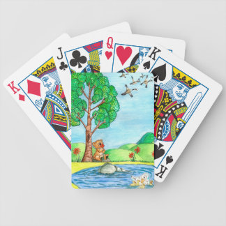 """""""Bear with Flowers"""" Playing Cards"""