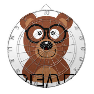 Bear with glasses dartboard