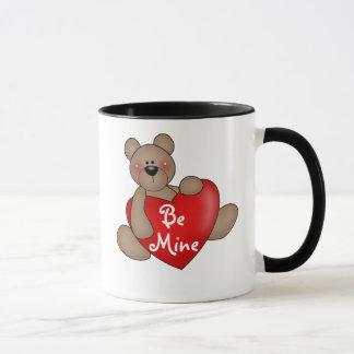 Bear with Heart Be Mine Mug