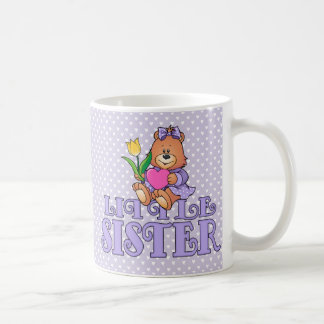 Bear with Heart Little Sister Coffee Mug