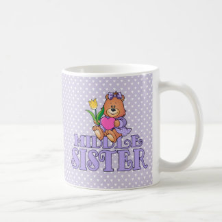 Bear with Heart Middle Sister Mugs