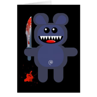 BEAR WITH KNIFE GREETING CARD