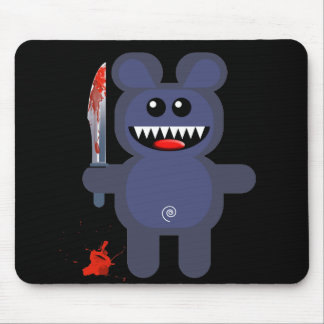 BEAR WITH KNIFE MOUSE PAD