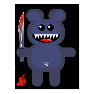 BEAR WITH KNIFE POSTCARD