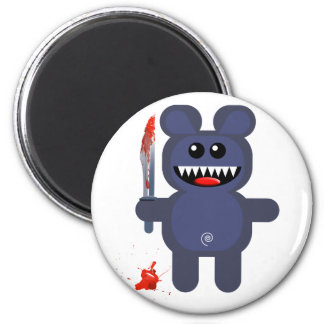 BEAR WITH KNIFE REFRIGERATOR MAGNET