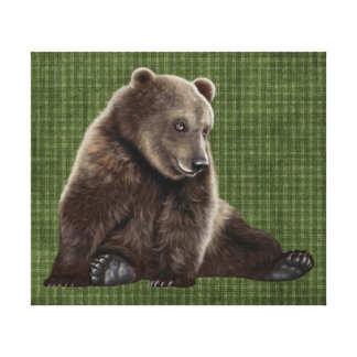 bear wrapped canvas art