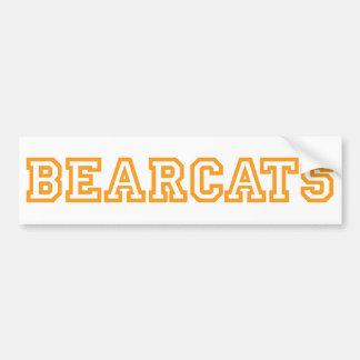Bearcats square logo in orange bumper sticker