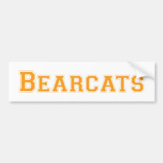 Bearcats square logo in orange bumper stickers