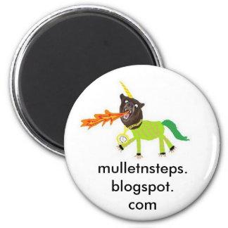 bearcorn., mulletnsteps.blogspot.com 6 cm round magnet