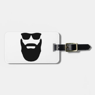Beard and Sunglasses Luggage Tag
