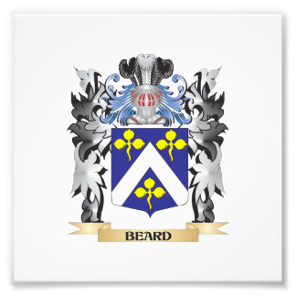 Beard Coat of Arms - Family Crest Photographic Print