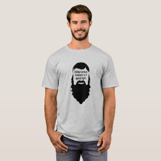 Beard Fight Logo Humour Funny T-Shirt