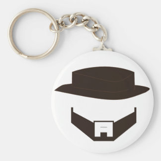 Beard & Hat - Original Basic Round Button Key Ring