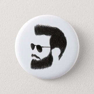 Beard Man 6 Cm Round Badge