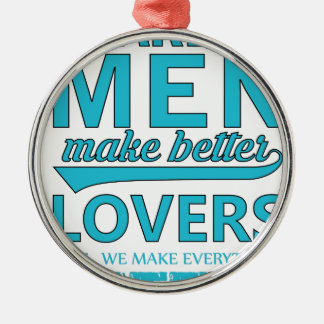 beard men makes better lovers Silver-Colored round decoration