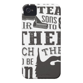 Beard, some father teach to shave others to be a m iPhone 4 Case-Mate cases