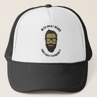 beard trucker hat