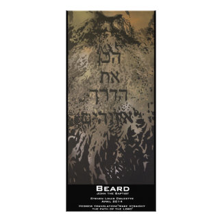 """Beard"" Value Bookmark 10 Cm X 23 Cm Rack Card"