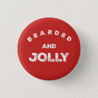 Bearded and Jolly Christmas Button