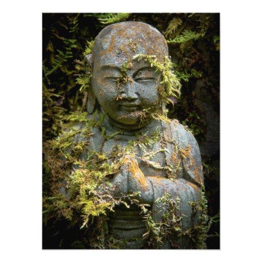 Bearded Buddha Statue Garden Nature Photography Photo Print
