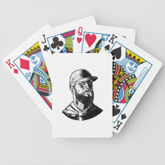 Bearded Chef Scratchboard Bicycle Playing Cards