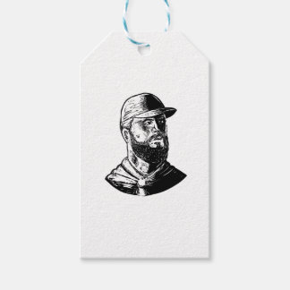 Bearded Chef Scratchboard Gift Tags