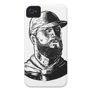 Bearded Chef Scratchboard iPhone 4 Case